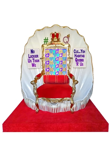 Hashtag Queens throne 3D 50 CM MODEL