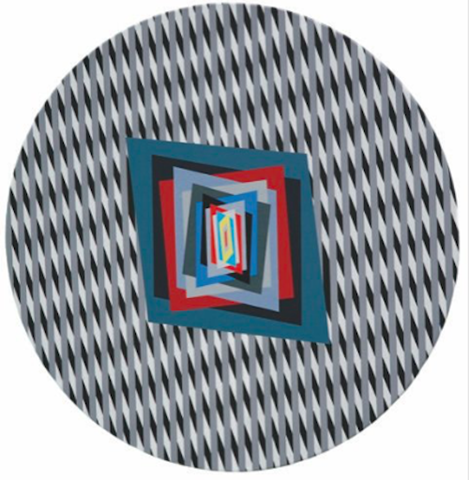 MOSTRA Circular color effect in op art